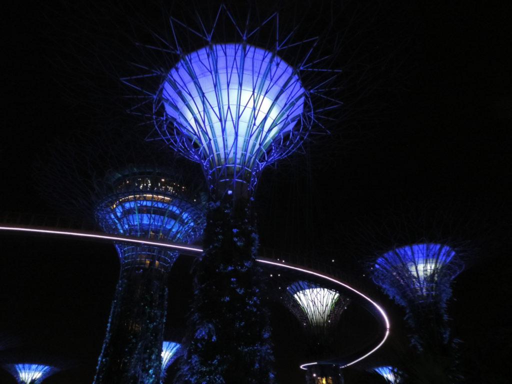 Обои рукотворное, Marina bay sands, ночь. Города foto 16